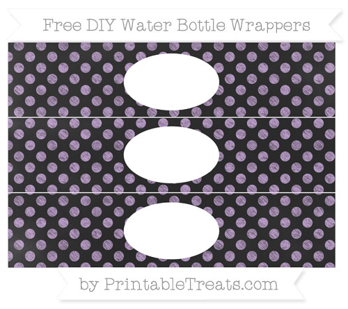 Free Wisteria Dotted Pattern Chalk Style DIY Water Bottle Wrappers