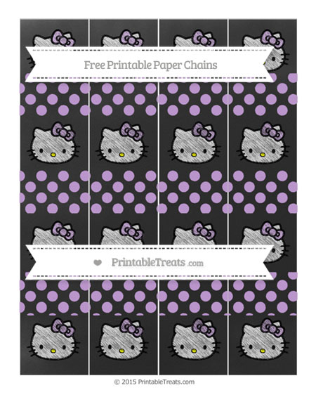 Free Wisteria Dotted Pattern Chalk Style Hello Kitty Paper Chains