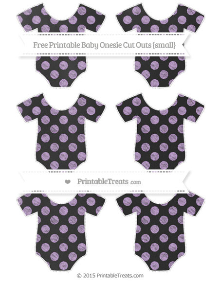 Free Wisteria Dotted Pattern Chalk Style Small Baby Onesie Cut Outs