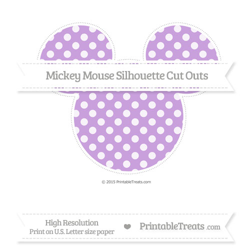 Free Wisteria Dotted Pattern Extra Large Mickey Mouse Silhouette Cut Outs