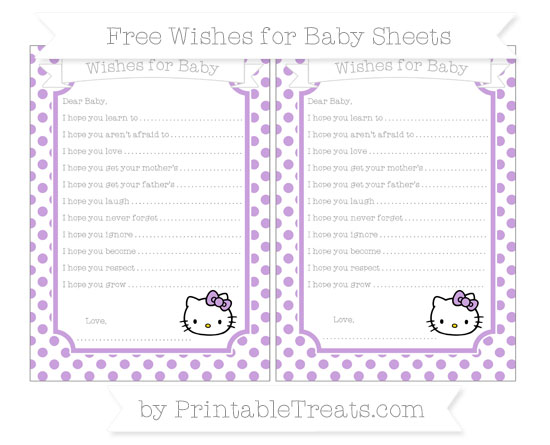 Free Wisteria Dotted Pattern Hello Kitty Wishes for Baby Sheets