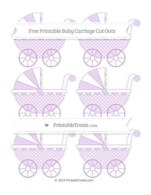 Free Wisteria Dotted Pattern Small Baby Carriage Cut Outs