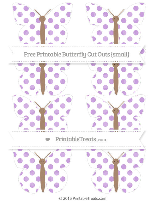 Free Wisteria Dotted Pattern Small Butterfly Cut Outs