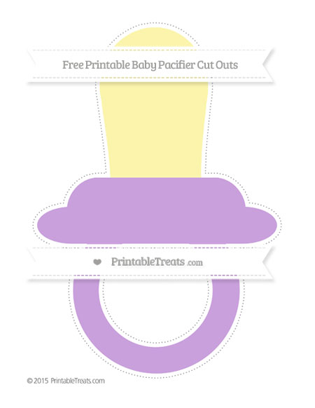 Free Wisteria Extra Large Baby Pacifier Cut Outs