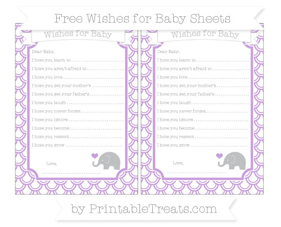 Free Wisteria Fish Scale Pattern Baby Elephant Wishes for Baby Sheets