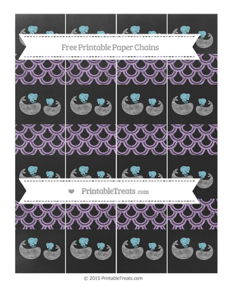 Free Wisteria Fish Scale Pattern Chalk Style Baby Whale Paper Chains