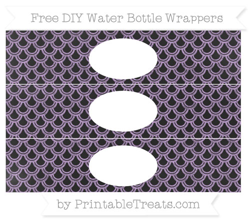 Free Wisteria Fish Scale Pattern Chalk Style DIY Water Bottle Wrappers