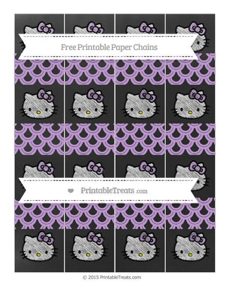 Free Wisteria Fish Scale Pattern Chalk Style Hello Kitty Paper Chains