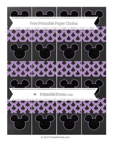 Free Wisteria Fish Scale Pattern Chalk Style Mickey Mouse Paper Chains