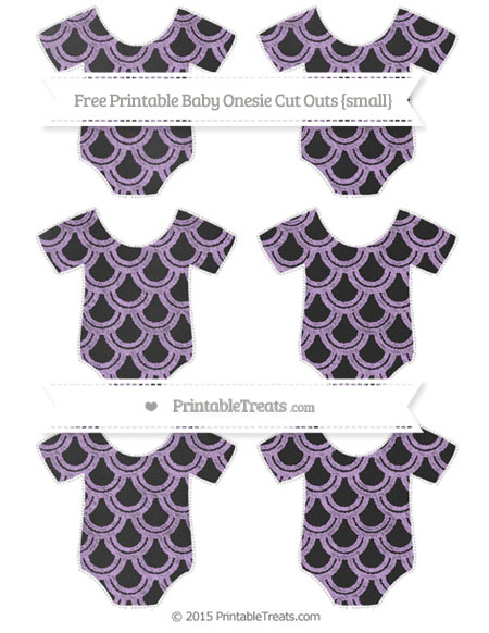 Free Wisteria Fish Scale Pattern Chalk Style Small Baby Onesie Cut Outs