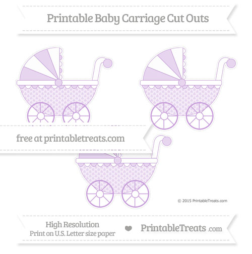 Free Wisteria Fish Scale Pattern Medium Baby Carriage Cut Outs