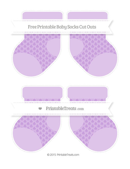 Free Wisteria Fish Scale Pattern Medium Baby Socks Cut Outs