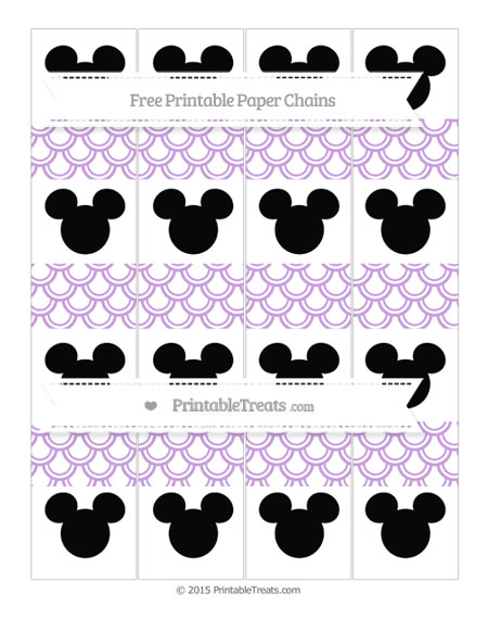 Free Wisteria Fish Scale Pattern Mickey Mouse Paper Chains