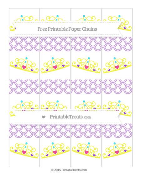 Free Wisteria Fish Scale Pattern Princess Tiara Paper Chains
