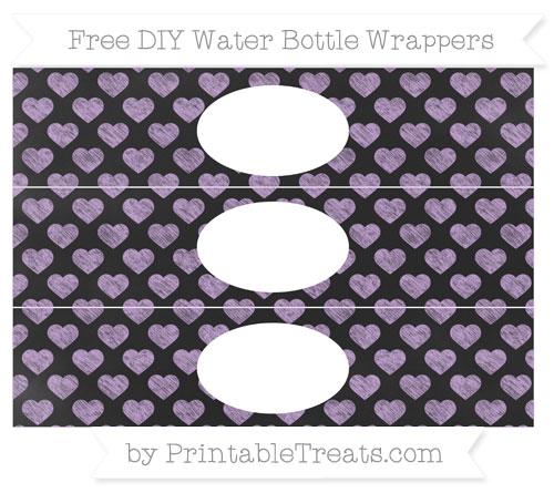 Free Wisteria Heart Pattern Chalk Style DIY Water Bottle Wrappers