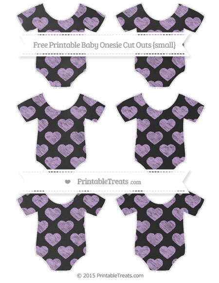 Free Wisteria Heart Pattern Chalk Style Small Baby Onesie Cut Outs