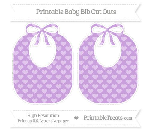 Free Wisteria Heart Pattern Large Baby Bib Cut Outs