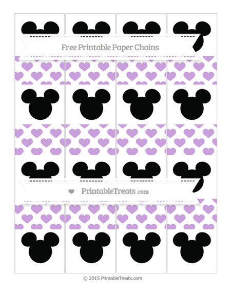 Free Wisteria Heart Pattern Mickey Mouse Paper Chains