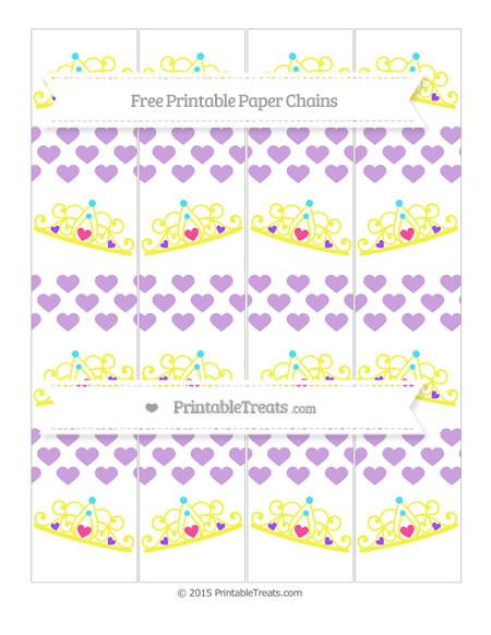 Free Wisteria Heart Pattern Princess Tiara Paper Chains