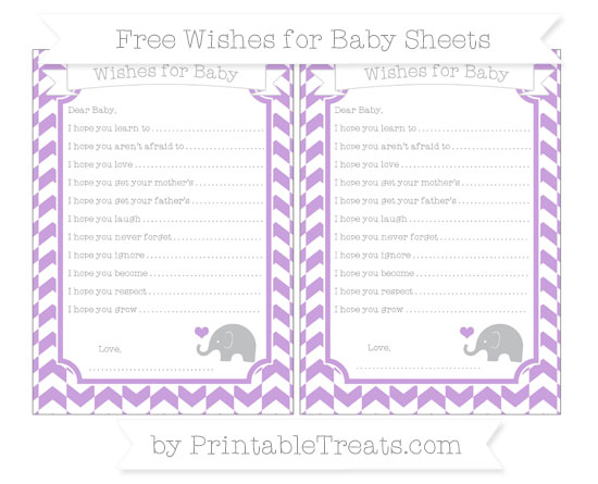 Free Wisteria Herringbone Pattern Baby Elephant Wishes for Baby Sheets
