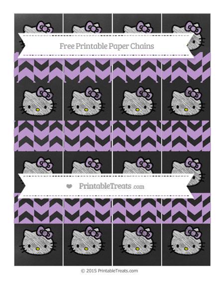 Free Wisteria Herringbone Pattern Chalk Style Hello Kitty Paper Chains