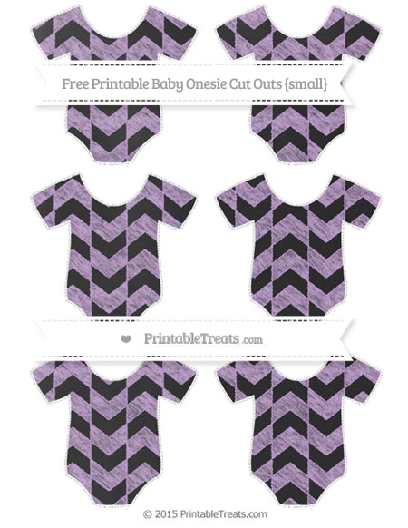 Free Wisteria Herringbone Pattern Chalk Style Small Baby Onesie Cut Outs