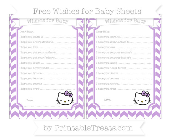Free Wisteria Herringbone Pattern Hello Kitty Wishes for Baby Sheets