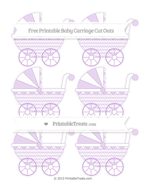 Free Wisteria Herringbone Pattern Small Baby Carriage Cut Outs