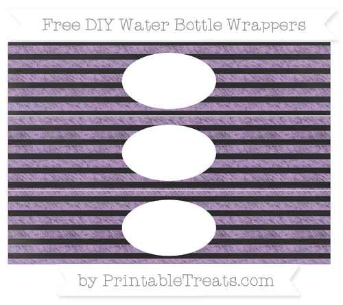 Free Wisteria Horizontal Striped Chalk Style DIY Water Bottle Wrappers