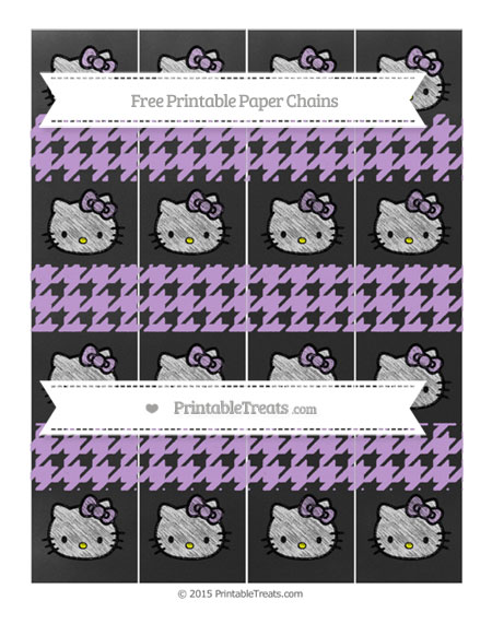 Free Wisteria Houndstooth Pattern Chalk Style Hello Kitty Paper Chains