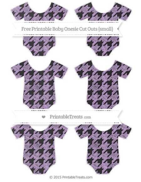Free Wisteria Houndstooth Pattern Chalk Style Small Baby Onesie Cut Outs
