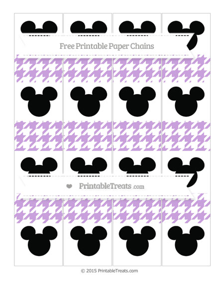 Free Wisteria Houndstooth Pattern Mickey Mouse Paper Chains