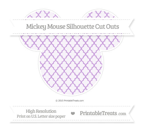 Free Wisteria Moroccan Tile Extra Large Mickey Mouse Silhouette Cut Outs