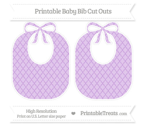 Free Wisteria Moroccan Tile Large Baby Bib Cut Outs
