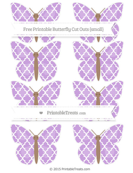 Free Wisteria Moroccan Tile Small Butterfly Cut Outs
