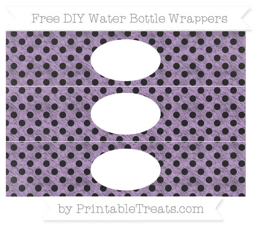 Free Wisteria Polka Dot Chalk Style DIY Water Bottle Wrappers