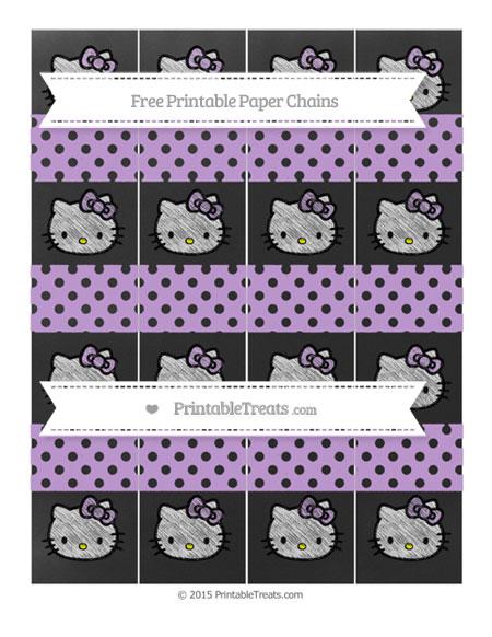Free Wisteria Polka Dot Chalk Style Hello Kitty Paper Chains