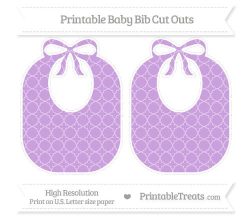 Free Wisteria Quatrefoil Pattern Large Baby Bib Cut Outs