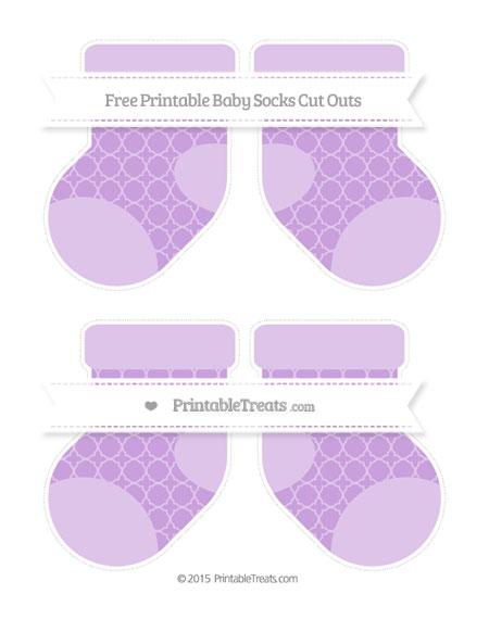 Free Wisteria Quatrefoil Pattern Medium Baby Socks Cut Outs
