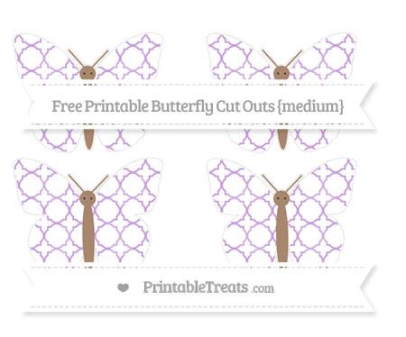 Free Wisteria Quatrefoil Pattern Medium Butterfly Cut Outs