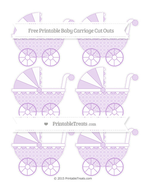 Free Wisteria Quatrefoil Pattern Small Baby Carriage Cut Outs