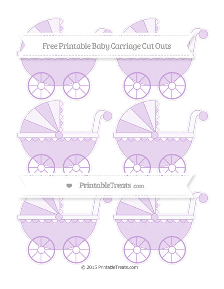 Free Wisteria Small Baby Carriage Cut Outs