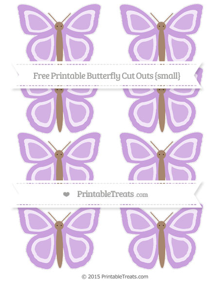 Free Wisteria Small Butterfly Cut Outs