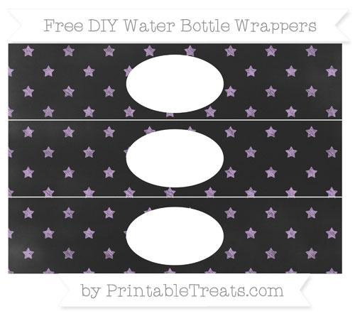 Free Wisteria Star Pattern Chalk Style DIY Water Bottle Wrappers