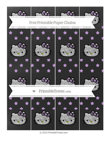 Free Wisteria Star Pattern Chalk Style Hello Kitty Paper Chains