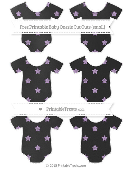 Free Wisteria Star Pattern Chalk Style Small Baby Onesie Cut Outs