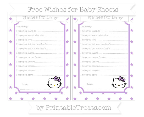 Free Wisteria Star Pattern Hello Kitty Wishes for Baby Sheets