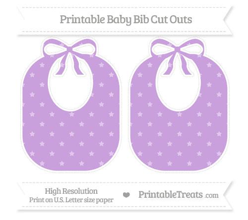 Free Wisteria Star Pattern Large Baby Bib Cut Outs