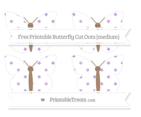 Free Wisteria Star Pattern Medium Butterfly Cut Outs
