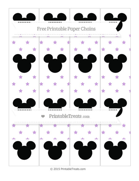 Free Wisteria Star Pattern Mickey Mouse Paper Chains